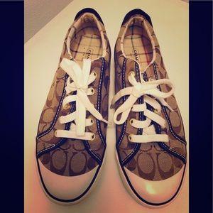 ❤️ COACH Barrett Jacquard & Leather Sneakers 9M